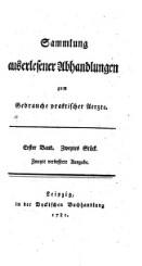 Sammlung auserlesener Abhandlungen zum Gebrauche praktischer Aerzte