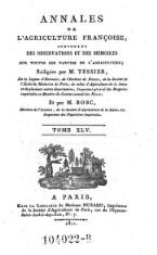 Annales de l'agriculture francoise