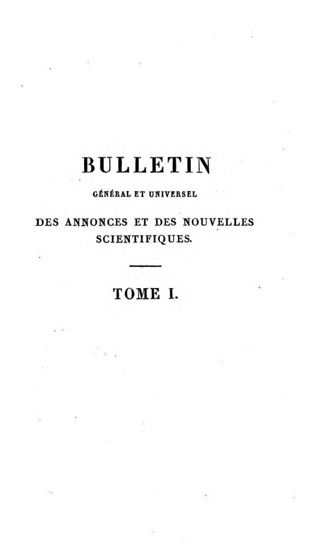 Bulletin general et universel des annonces et des nouvelles scientifiques