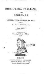 Biblioteca italiana ossia giornale di letteratura