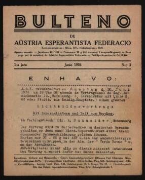 Bulteno de Aŭstria Esperantista Federacio