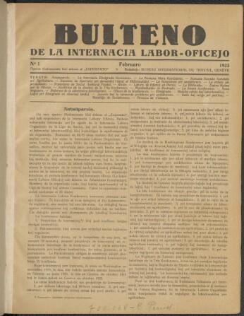 Bulteno de la Internacia Labor-Oficejo