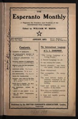 The Esperanto monthly