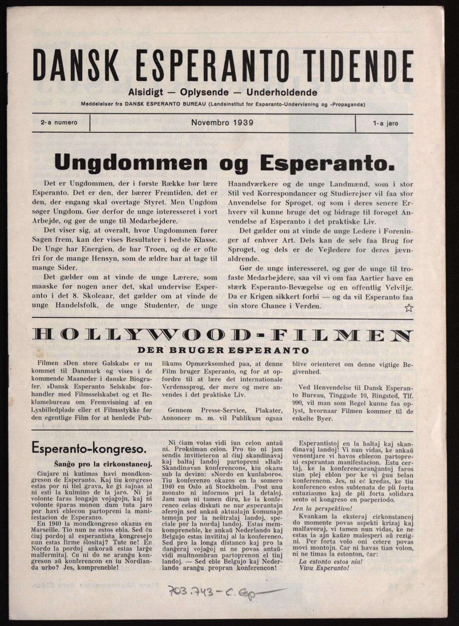 Dansk Esperanto-tidende