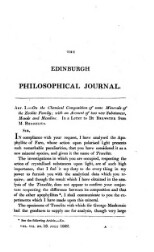 The Edinburgh Philosophical Journal
