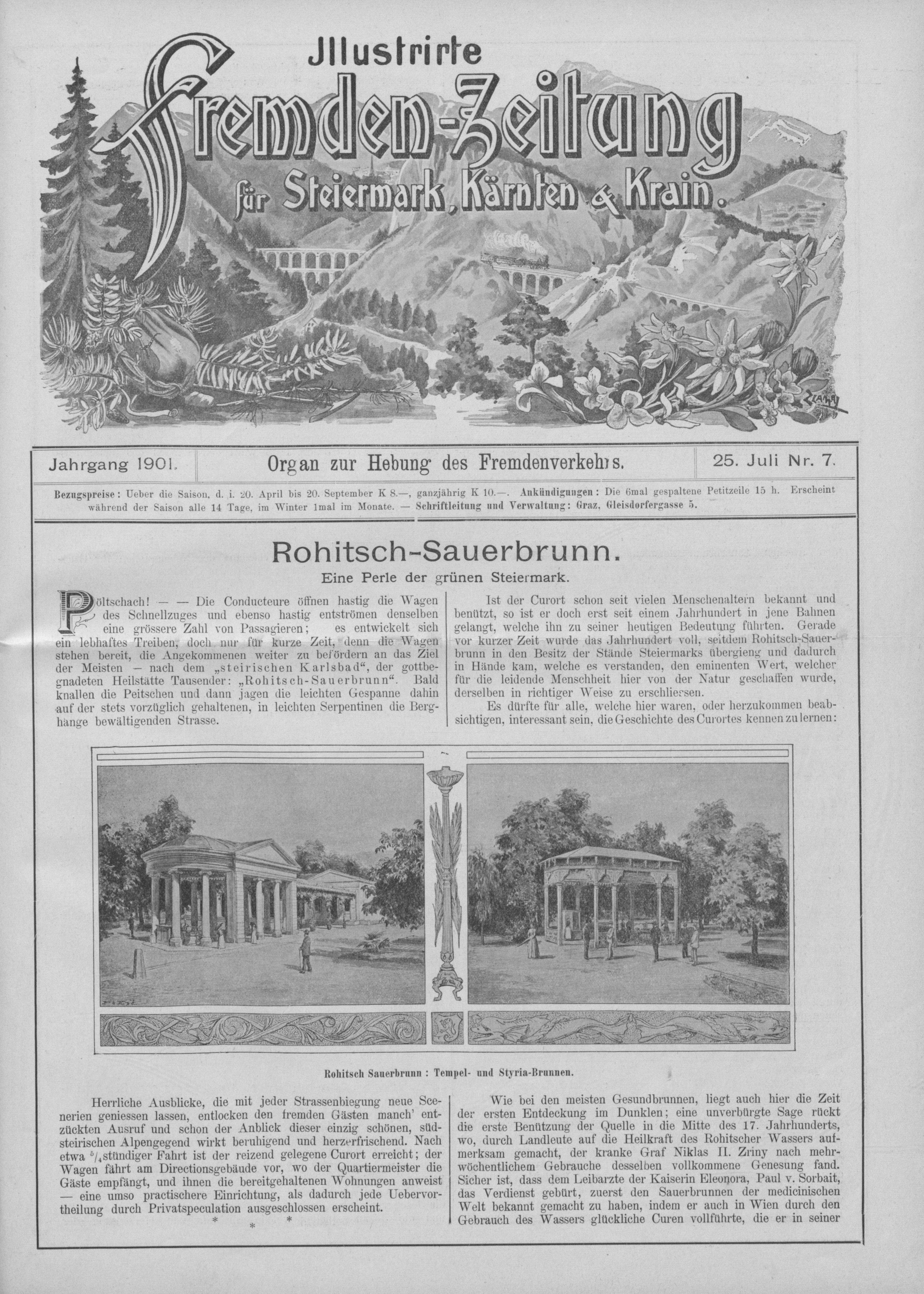 Imperiales Rogaska Slatina: Tempel- und Styria-Brunnen