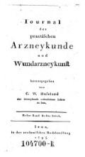 Journal der practischen Arzneykunde und Wundarzneykunst