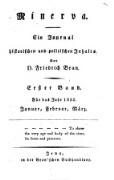 Minerva. Ein Journal historischen und politischen Inhalts