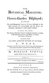 The botanical magazine: or, flower garden displayed etc.