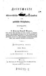 Zeitschrift für österreichische Rechtsgelehrsamkeit und politische Gesetzkunde