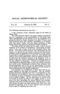 Monthly Notices of the astronomical society of London