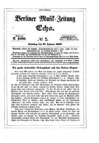 Berliner Musik-Zeitung Echo