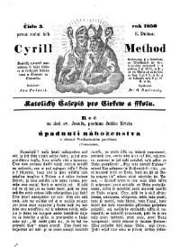 Cyrill a Method cilli Katolicky casopis pro cirkev a skolu