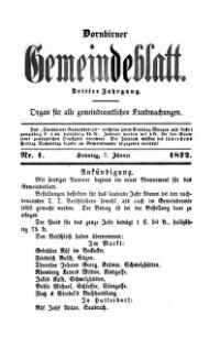 Dornbirner Gemeindeblatt