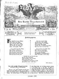 Fest-Zeitung für das Erste Deutsche Sängerbundesfest in Dresden