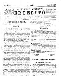 Erdélyegyházmegyei Értesítő (Anzeiger der Diöcese von Siebenbürgen)
