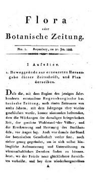 Flora oder Botanische Zeitung