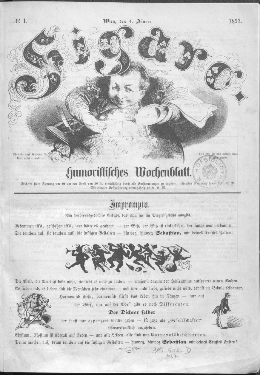 Figaro 1 (4.1.1857) | Quelle: ANNO