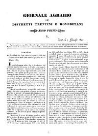 Giornale Agrario die distretti Trentini e Roveretani