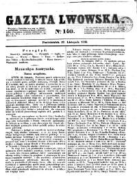 Gazeta Lwowska (Lemberger Zeitung)