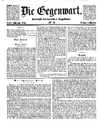 Die Gegenwart. Politisch-Literarisches Tagblatt