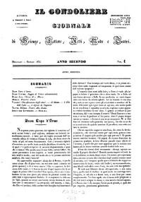 Il Gondoliere. Journale die Scienze, Lettere, Arti, Mode e Teatri