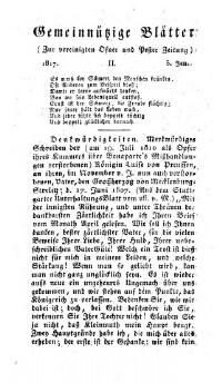 Gemeinnützige Blätter zur vereinigten Ofner und Pester Zeitung
