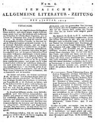 Neue Jenaische allgemeine Literatur-Zeitung