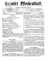 Kremser Wochenblatt