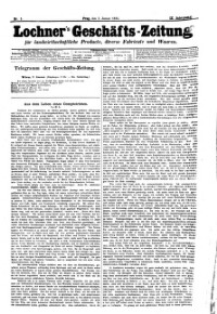 Lochner's Geschäfts-Zeitung über landwirthschaftliche Producte, diverse Fabrikate & Waaren