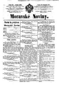 Morawske Nowiny (Noviny; Mährische Zeitung)