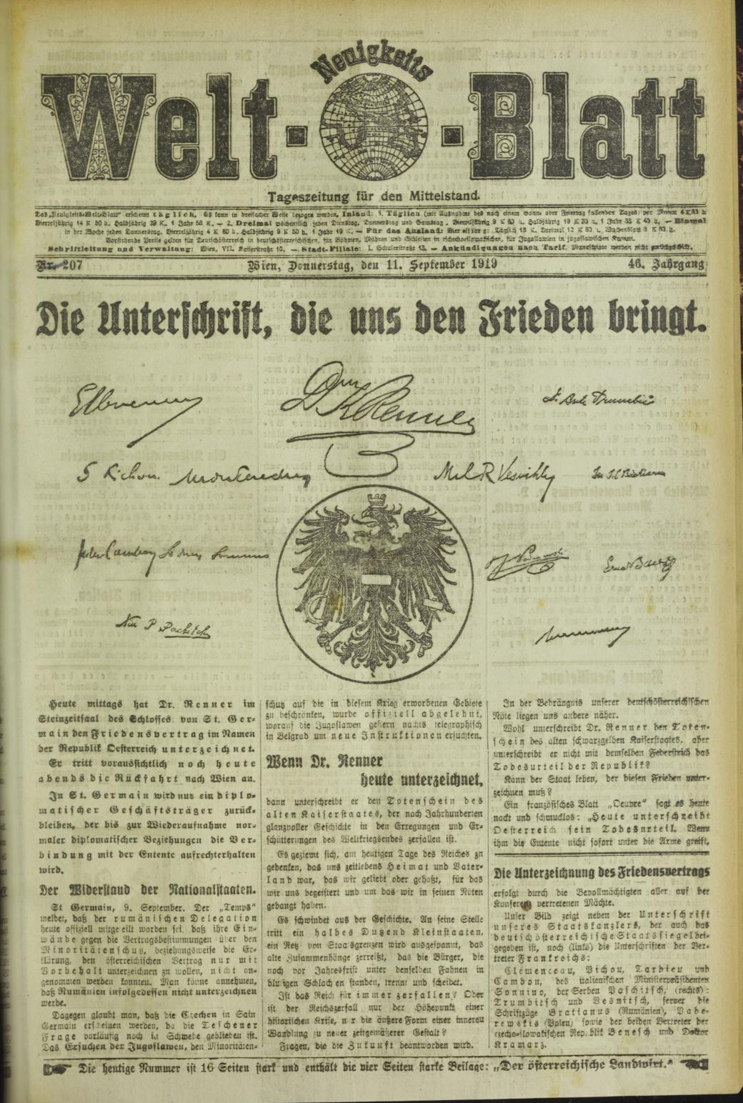Neuigkeits Welt-Blatt (National Library Austria)