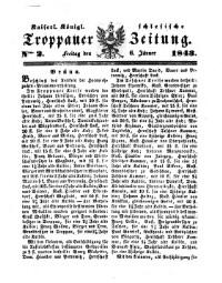 Kais. Königl. Schlesische Troppauer-Zeitung