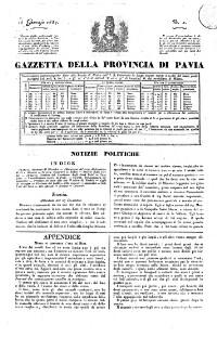Gazetta della provinzia di Pavia