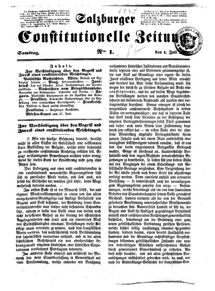 Salzburger Constitutionelle Zeitung