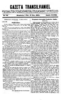 Gazeta de Transilvania (Siebenbürgische Zeitung)