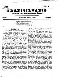 Transsilvania (Beiblatt zum Siebenbürger Boten)