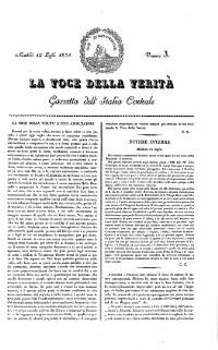 La voce della veritá. Gazzetta dell'Italia centrale