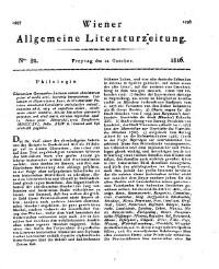 Wiener allgemeine Literatur-Zeitung