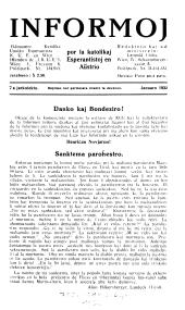 Informoj por la anoj de la Austria Katolika Ligo Esperantista