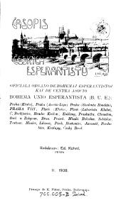 Casopis Ceskych Esperantistu