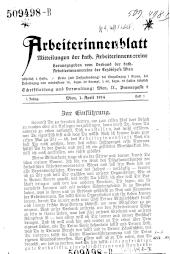 Arbeiterinnenblatt