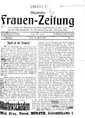 Allgemeine Frauen-Zeitung