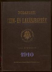 Budapesti Czim-es lakas jegyzek (Budapester Adressen- und Wohnungs-Anzeiger des Franklin-Vereins)