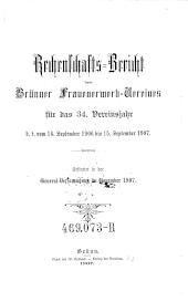 Rechenschaftsbericht des Brünner Frauenerwerb-Vereines