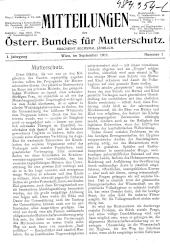 Mitteilungen des Österr. Bundes für Mutterschutz