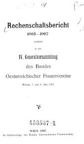 Rechenschaftsbericht des Bundes Oesterreichischer Frauenvereine
