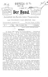 Der Bund. Zentralblatt des Bundes österreichischer Frauenvereine