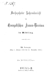 Jahresbericht des evangelischen Frauen-Vereins in Mödling
