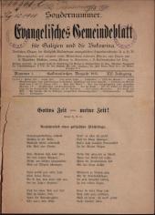 Evangelisches Gemeindeblatt für Galizien und die Bukowina